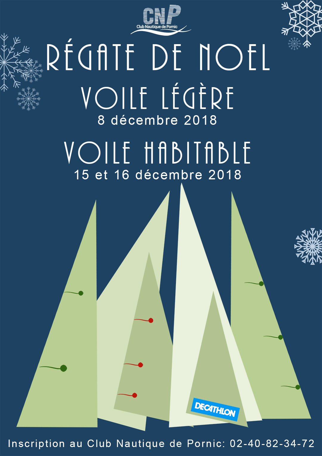 affiche regate noel light